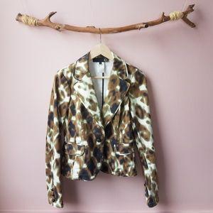 Just Cavalli Italian Ittiere designer print blazer